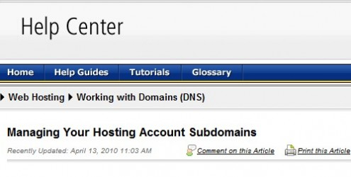 Manage subdomains